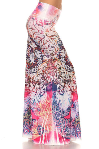 Bohemian Inspired Scroll Print Maxi Skirt-GoGetGlam