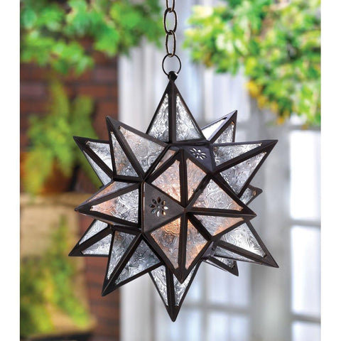 Bohemian Moroccan Style Decor Hanging Star Candle Holder Lantern-GoGetGlam