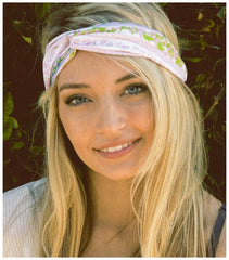 Bohemian Twist Headband in Pink-GoGetGlam