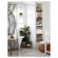 Boho Abstract Pattern Shower Curtain-GoGetGlam