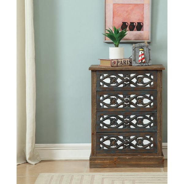 Boho Bungalow Four Door Mirrored Chest - GoGetGlam Boho Style