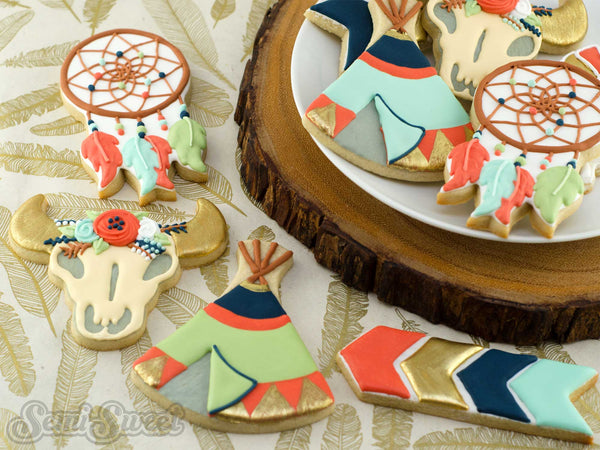 Southwestern Boho Teepee Arrow Cookie Cutter Set