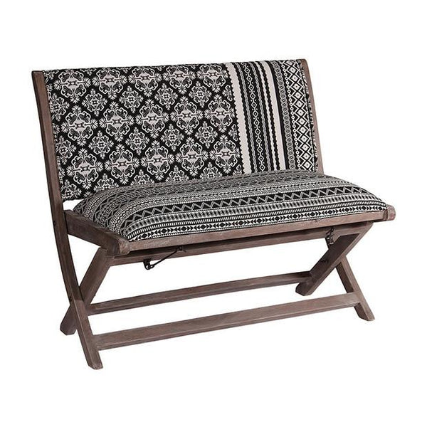 Boho Tribal Pattern Foldable Upholstered Bench-GoGetGlam