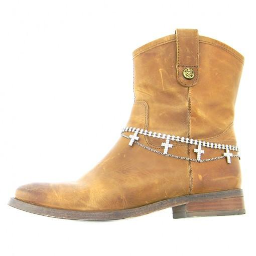 Boot Bling Rhinestone Cross Layered Boot Chain-GoGetGlam