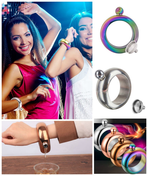 Iridescent Rainbow Bracelet Flask