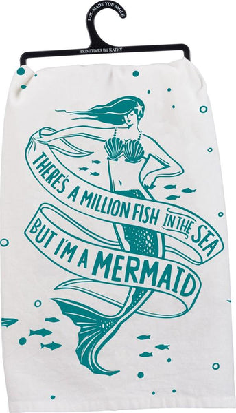 But I'm A Mermaid Dish Towel Set of 2-GoGetGlam