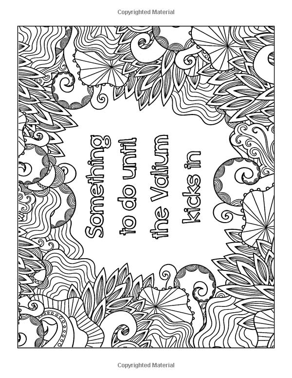 Calm The Fuck Down Coloring Page