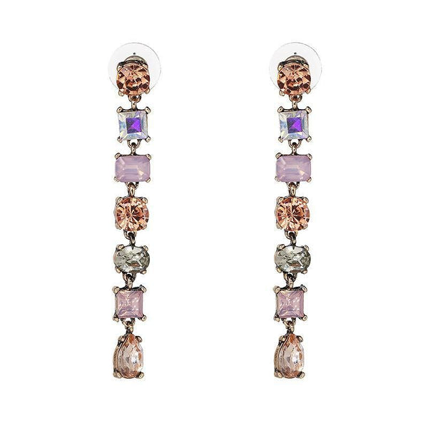 Carissa Crystal Drop Earrings-GoGetGlam
