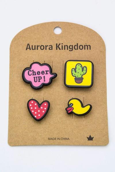Cheer Up Patch & Pin Set-GoGetGlam