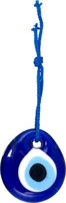 Cobalt Blue Glass Evil Eye Hanging Sculpture - GoGetGlam Boho Style
