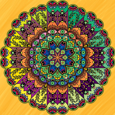 Color To Calm Adult Coloring - Mandalas - GoGetGlam Boho Style