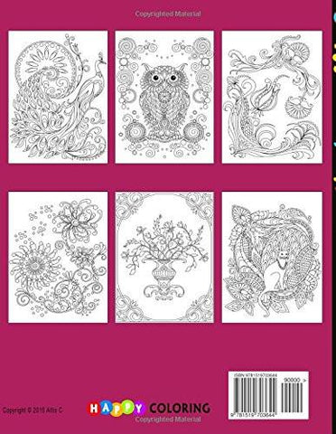Coloring Book for Adults: Amazing Swirls - GoGetGlam Boho Style