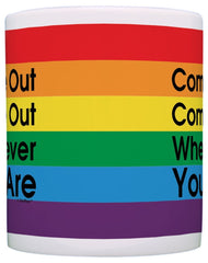 Come Out Gay Pride Coffee Mug - GoGetGlam Boho Style