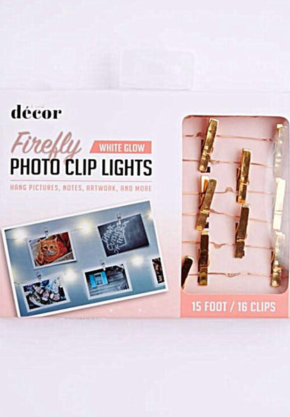 Copper Firefly Photo Clip String Lights - GoGetGlam Boho Style