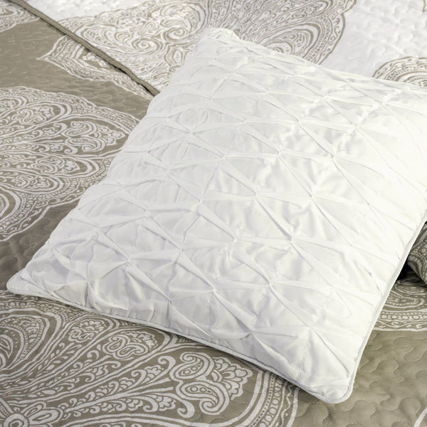 Cora Taupe Reversible 6PC Coverlet Set-GoGetGlam
