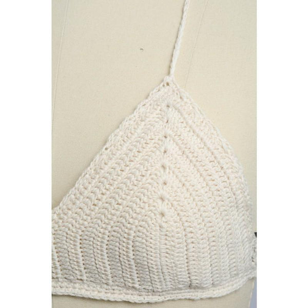 Crochet Triangle Bralette Top - GoGetGlam Boho Style