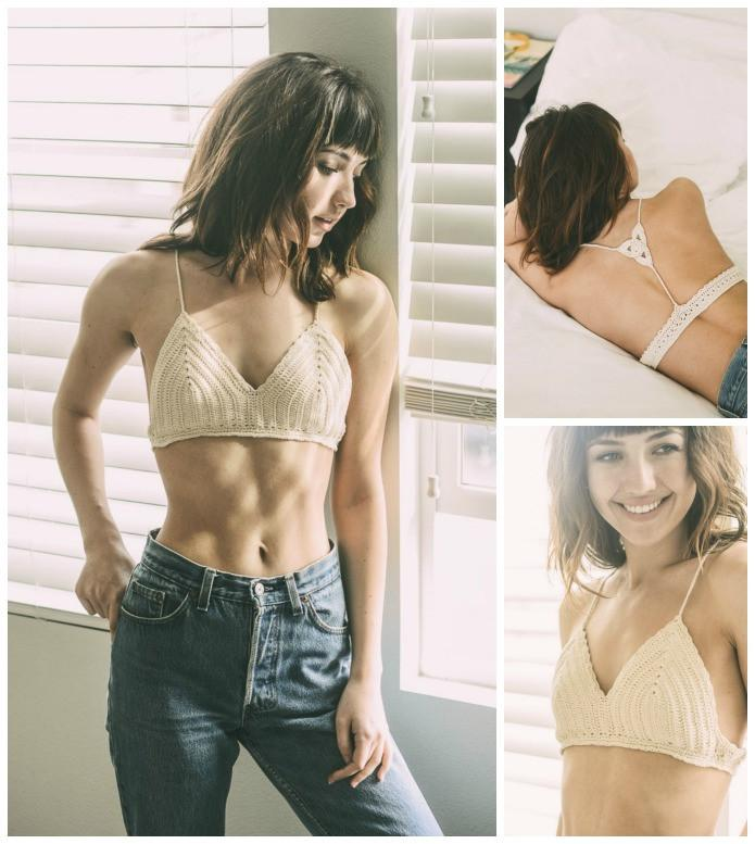 Crochet Triangle Bralette Top-GoGetGlam