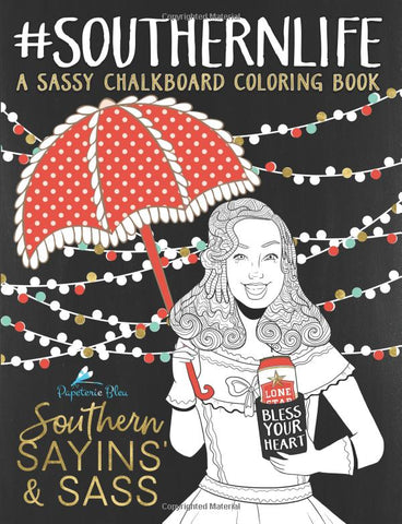 Southern Sayins' & Sass: A Sarcastic Adult Colouring Book - GoGetGlam Boho Style
