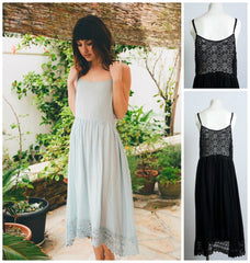 Dainty Lace Bodice Night Gown-GoGetGlam