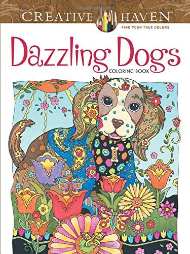 Dazzling Dogs Coloring Book For Adults