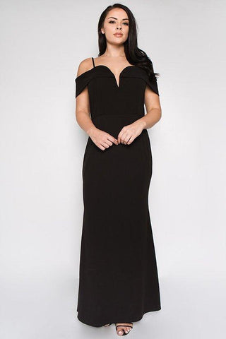 Plus Size Off Shoulder Maxi Dress - GoGetGlam Boho Style