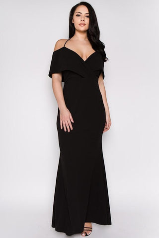 Plus Size Off Shoulder Sweetheart Maxi Dress - GoGetGlam Boho Style