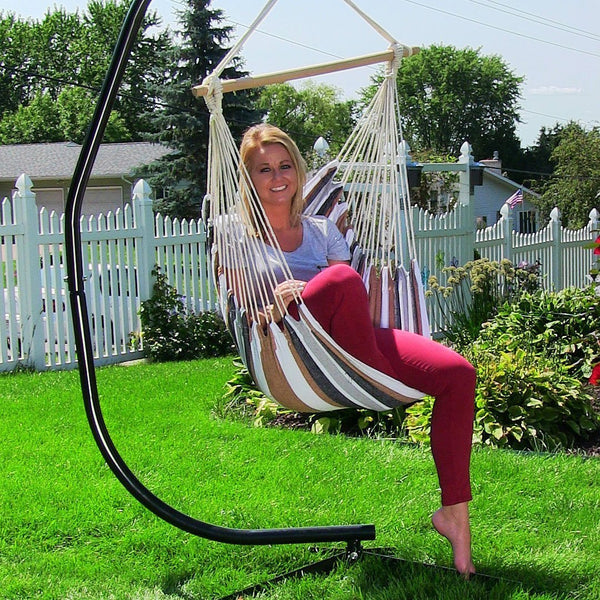 Desert Mix Cushioned Hanging Hammock Chair-GoGetGlam