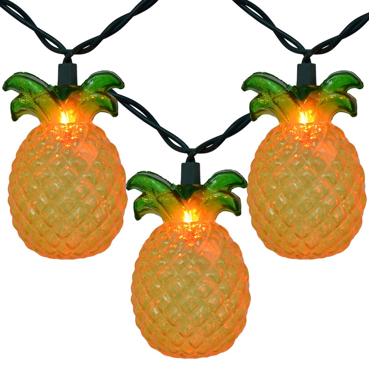 Designer Pineapple Shaped Indoor Outdoor String Lights - Boho Bohemian Decor