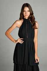 Emily Black Tier Layered Maxi Dress