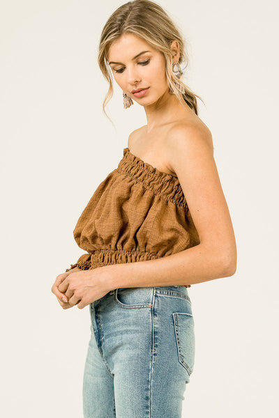 Tressa Off Shoulder Crop Top-GoGetGlam
