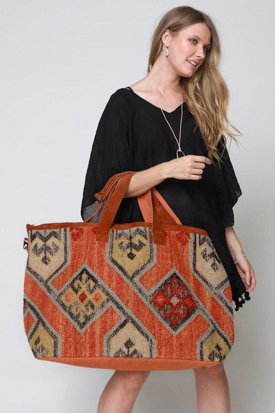 The South By Southwest Boho Weekender Tote Bag-GoGetGlam