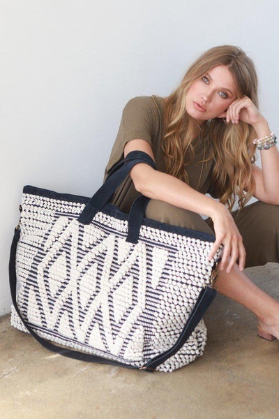 Desert Diamonds Boho Weekender Tote Bag-GoGetGlam