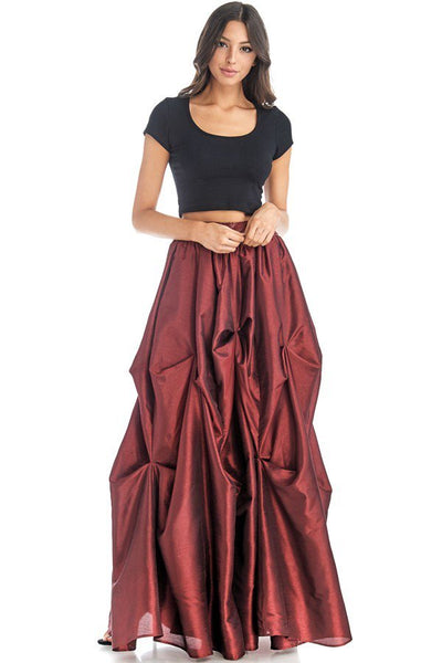 Fiona Floor Length Tiered Ruffle Maxi Skirt-GoGetGlam