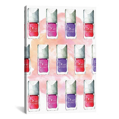 Dior Nail Polish Painting Print on Wrapped Canvas-GoGetGlam