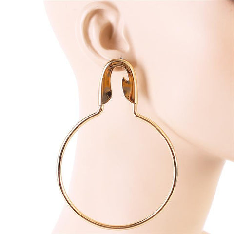 Dirinda Silver or Gold Modern Hoop Earrings-GoGetGlam