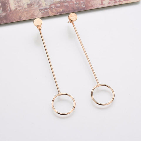 Draw The Line Geometric Earrings - GoGetGlam Boho Style
