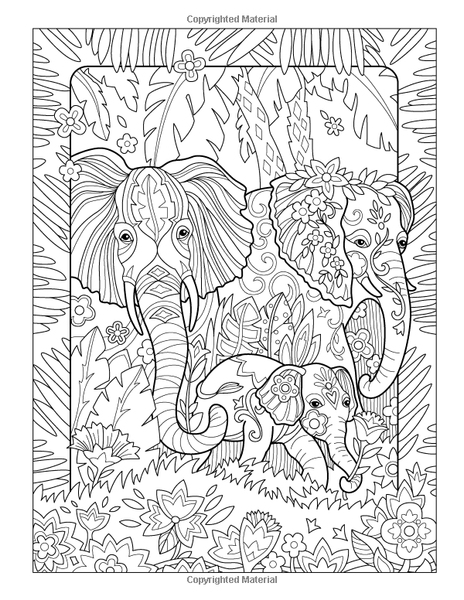 Elegant Elephants Adult Coloring Book GoGetGlam