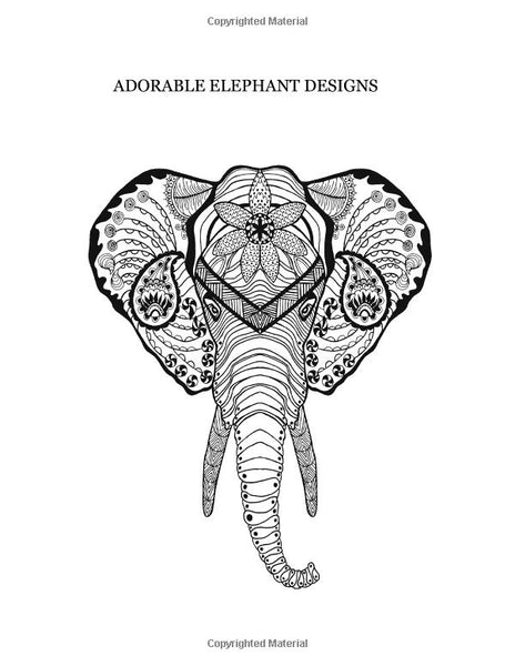Elephant Adult Coloring Book-GoGetGlam