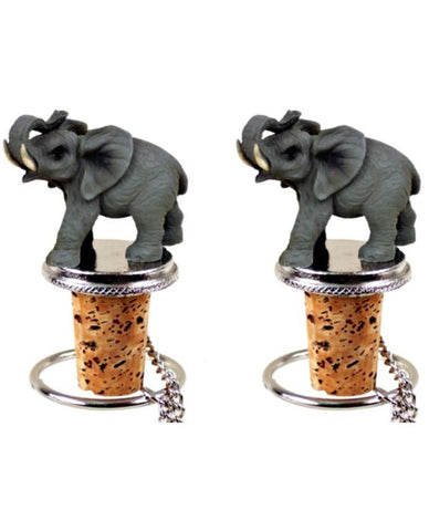 Elephant Cork Wine Bottle Stopper SET-GoGetGlam