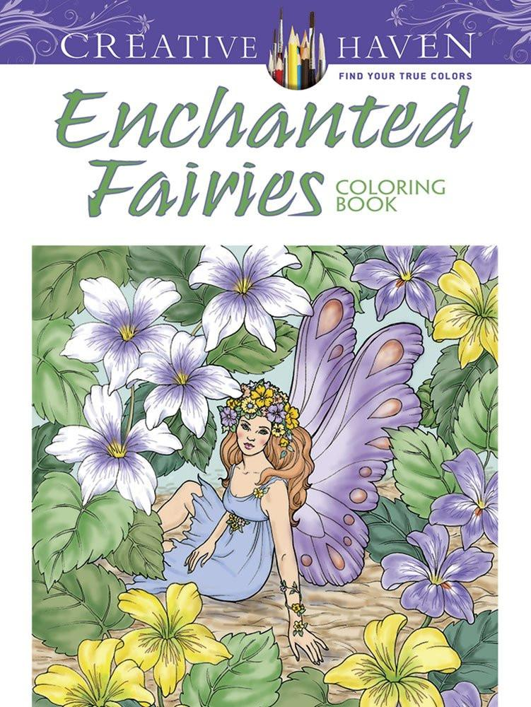 enchanted fairies coloring book for adults - Fairy Coloring Books For Adults