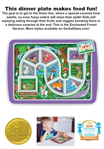 Enchanted Forest Kids Adventure Dinner Plate-GoGetGlam
