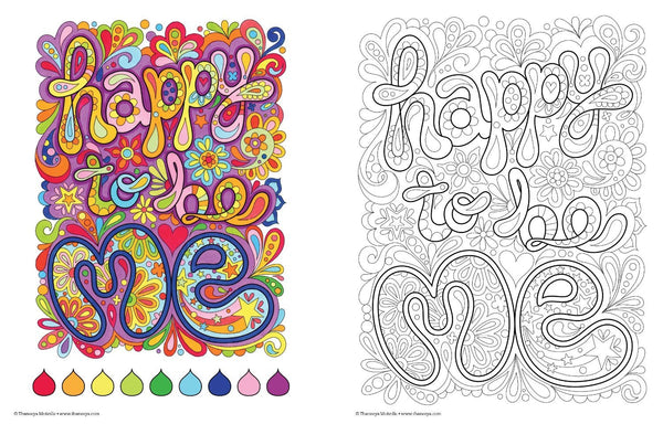 Enjoy This Moment Adult Coloring Book-GoGetGlam