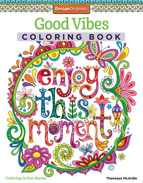 Enjoy This Moment Adult Coloring Book - GoGetGlam Boho Style