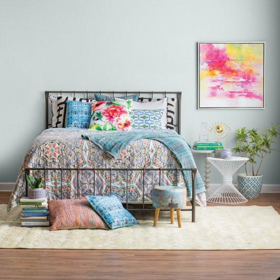 Eva Bohemian 5PC Reversible Quilt Set-GoGetGlam