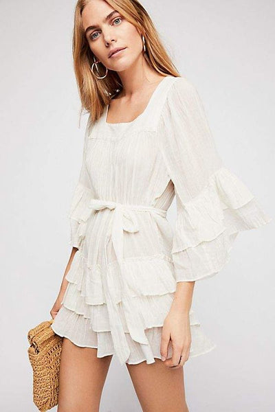 FREE PEOPLE Gretta Mini Dress in White