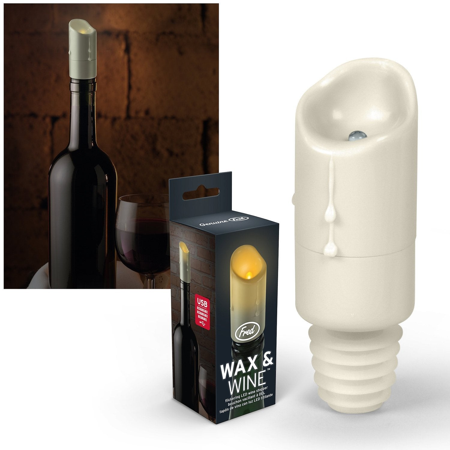 Faux Wax USB Candle Bottle Stopper - GoGetGlam Boho Style