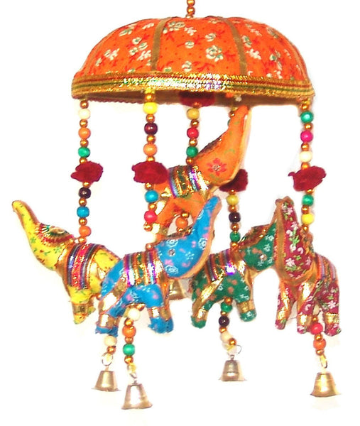 Five Elephant India Artisan Boho Mobile - Boho Bohemian Decor