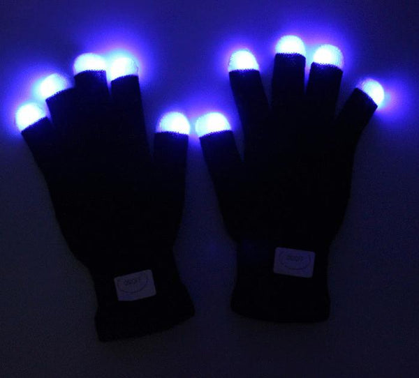Flashing Finger Light Gloves LED Colorful Gloves 7 Colors Light Show - Boho Bohemian Decor