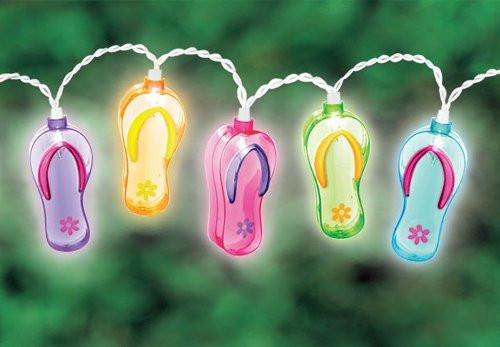 Flip Flop Fashion Shoes Patio String Lights, 6-Feet-GoGetGlam