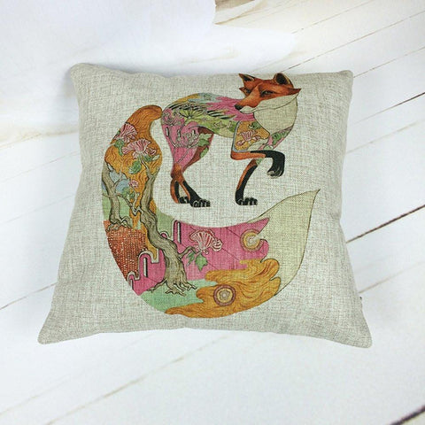 Forest Fox Throw Pillow-GoGetGlam